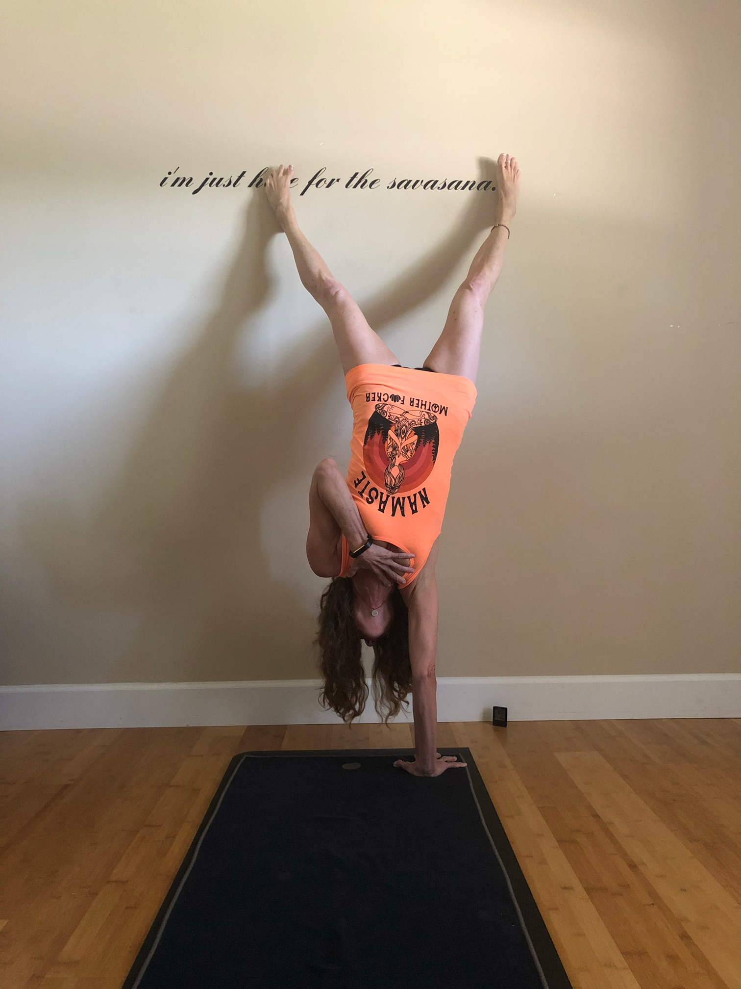 Julie Handstand Namaste 2020