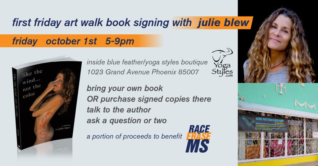 art walk book signing